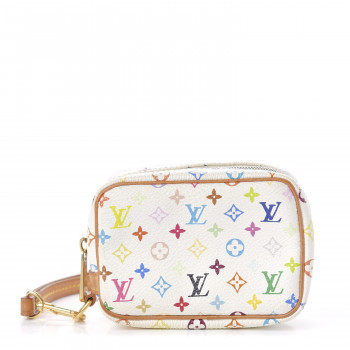 LOUIS VUITTON Monogram Multicolor Trousse Wapity White