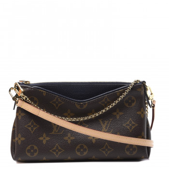 LOUIS VUITTON Monogram Pallas Clutch Blue Marine