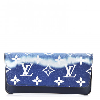 LOUIS VUITTON Monogram Escale Sunglass Case Blue