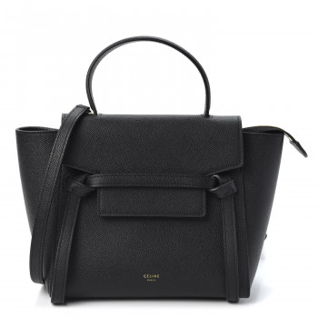 CELINE Grained Calfskin Nano Belt Bag Black