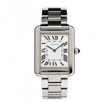 CARTIER Stainless Steel 24mm Small Tank Solo Quartz Watch